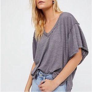 Free People oversized v-neck tee shirt medium
